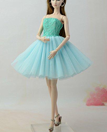 Stillshine Ballett Rock Abendkleid Ballkleid Prinzessin Kleidung Dress Kleider Bekleidung Kleid Meerjungfrau für Barbie Puppen Party Geschenke (Ballett Blau) - Barbie-party Ken