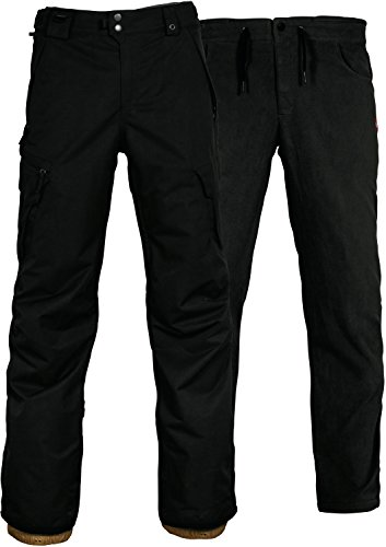 686 SMARTY 3 In 1 Cargo Snowboard Pant Small Black (686 Cargo Pant)