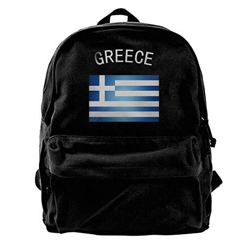 SAGDHFH Rucksack, Motiv: griechische Flagge, Segeltuch, leicht, für Herren und Damen, für Studenten, Büchertaschen, Laptoprucksack -