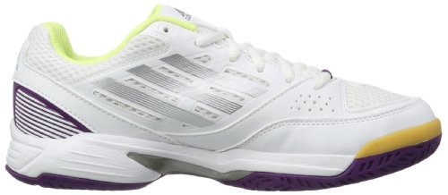 adidas Opticourt Team Light, Chaussures de Running Compétition femme Blanc - Running White FTW/Tech Grey Metal/Tribe Purple