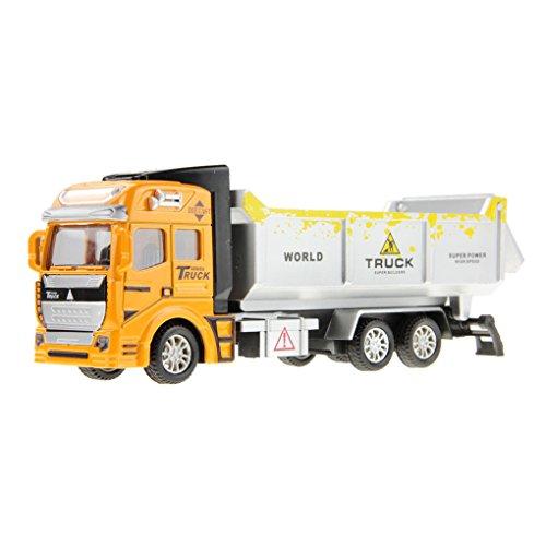 JIAHFR Jouet Camion Bébé Jouet Véhicules Remorque 1:48 Modelage Véhicules de Construction Miniature Truck Voiture Toy Cadeau Noël Premier Age Anniversaire pour Garçon Enfants