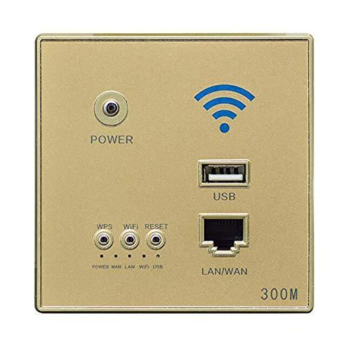 Enrutador De ZóCalo con WiFi USB InaláMbrico Inteligente De Pared De Hotel...