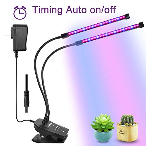LED pianta cresce la luce,Muizlux20W dimmerabile Luci per serra e Indoor Hydroponic pianta fioritura Veg Growing Lamps, Grow Light with 3 Modi Timer (striscia)