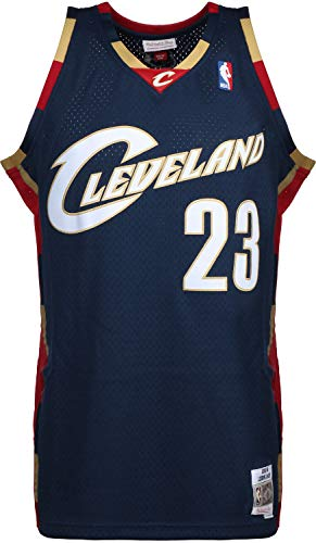 cheaper 00d73 1a14d Mitchell & Ness LeBron James #23 Cleveland Cavaliers 2008-09 Swingman NBA  Trikot Navy, L