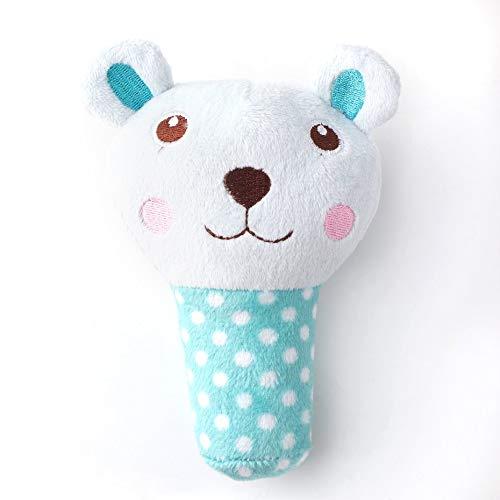 Panamami Durable Pets Plüsch Sound Quietschende Spielzeug Cute Animal Shape Gefüllte Ausbildung Kauen Spielzeug Kinder Vocal Animal Spielzeug - blau -