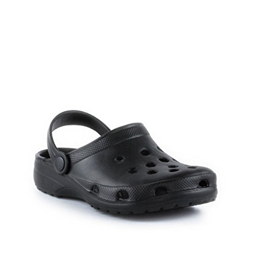 Zone - Black Moulded Clog - Kids Size 13 to Adult Size...