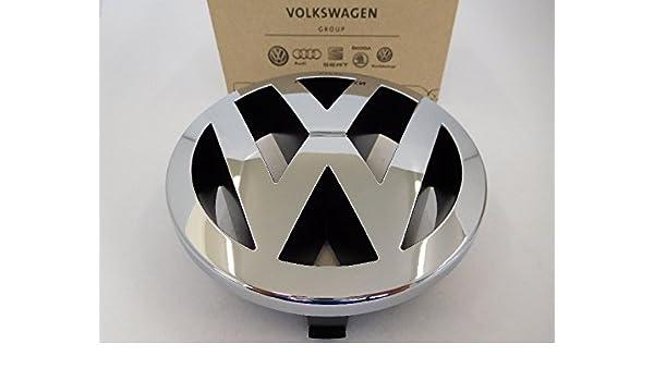1J6853679F GQF Original VW V5 Front Grill Badge Emblem Chrome Red
