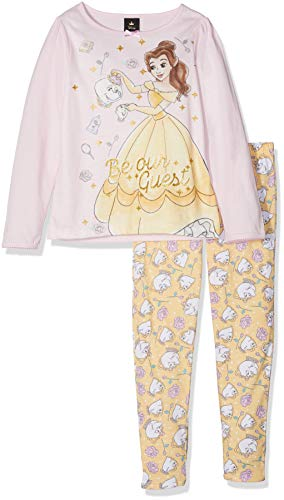 Disney princess belle 'be our guest', pigiama bambina, pink, 2-3 anni