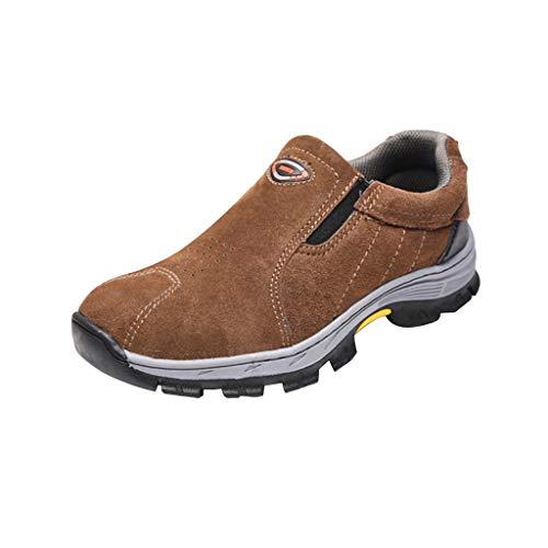 SM SunniMix Botas de Seguridad Zapatos Deportivos Suministros de Trabajo Equipo Industrial Escolar - marrón 42