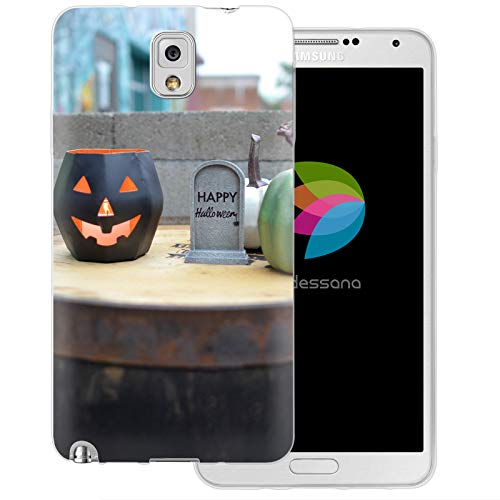 dessana Halloween Transparente Schutzhülle Handy Case Cover Tasche für Samsung Galaxy Note 3 Happy Halloween