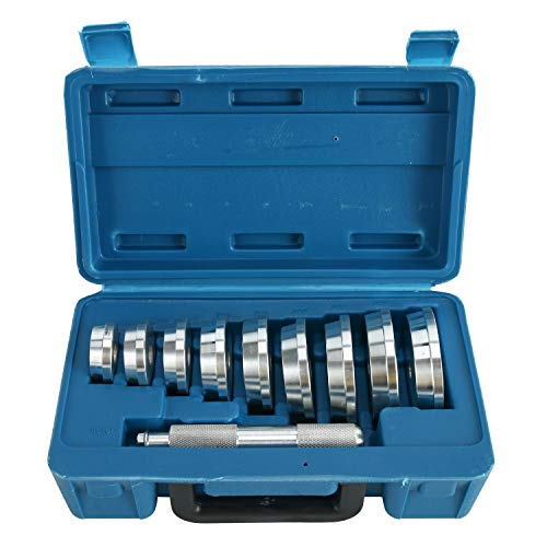 FreeTec Valisette de 10 outils comprenant des roulements, douilles, bagues, extracteur, enfonceur, gaz propulseur