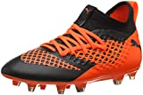 Puma Unisex-Kinder Future 2.3 Netfit FG/AG JR Fußballschuhe, Schwarz Black-Shocking Orange 02, 37 EU