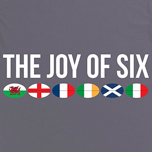 The Joy of Six Rugby T-shirt, Uomo Antracite