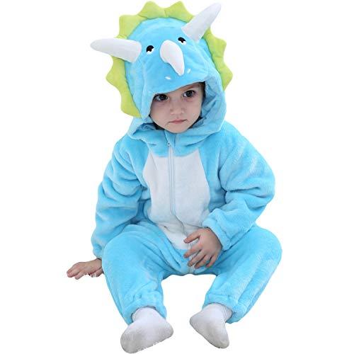 Prähistorische Kostüm - LOLANTA Unisex Baby Triceratops Dinosaurier Kostüm