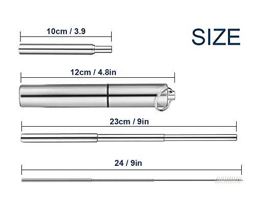 Zoom IMG-1 benooa cannucce riutilizzabili telescopiche metalliche