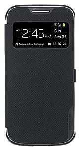 Anymode SAMS4MVCBK Étui à rabat avec visionneuse écran pour Samsung Galaxy S4 Mini Noir