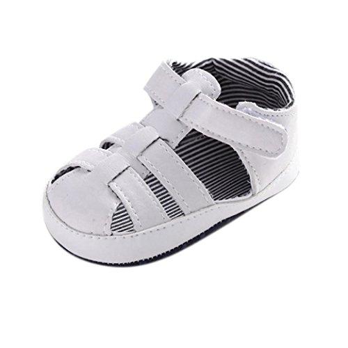 "Coolster Baby Mädchen Krippe Schuhe Kleinkind Sandalen Säugling Erste Wanderer Hollow Sneaker (Länge: 11CM/ Zoll: 4.3 "", Weiß)"