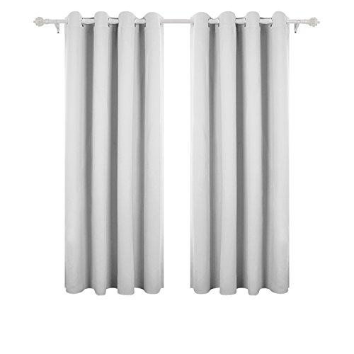 Deconovo tende oscuranti per casa moderne tende da sole per interni con occhielli due pannelli 140 x 175 cm grigio perla