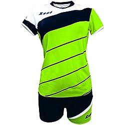 Zeus Kit Lybra Donna Voleibol Complementando Para Las Mujeres Sport Pegashop Colour Verd Fluo-Negro-Blanco (L)