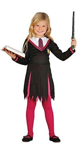 Geek Mädchen Halloween Für Kostüme (Mädchen Rosa Zauberer Halloween TV Buch Film Schulmädchen Uniform Nerd Geek Student Kostüm Kleid Outfit 5-12 jahre - Rosa, 7-9)