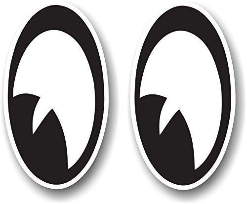 Stile Vintage, motivo: coppia di occhi che sinistra, per modello Rocker-Casco da moto, ecc., motivo: Rat look Car Sticker Bomb adesiva in vinile, 90 x 50 mm, dimensioni ca.
