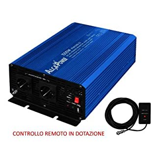 Alca power Inverter Sinusoidale Onda Pura 1500W Inp. 12V DC Out 220V AC