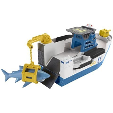 Floats in Water and Rolls Land, Car-Go Commander Shark Ship, Assorted by Matchbox