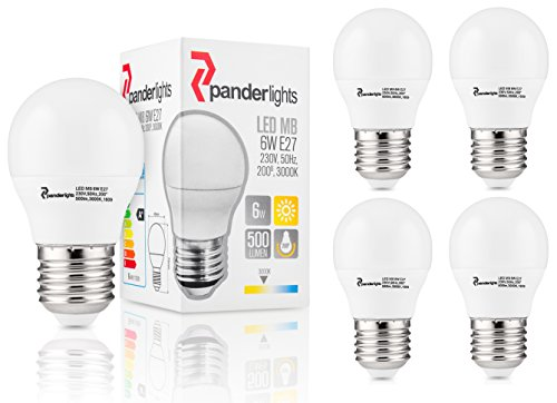 panderlights Pack Set di 5 E27 LED MB proiettore