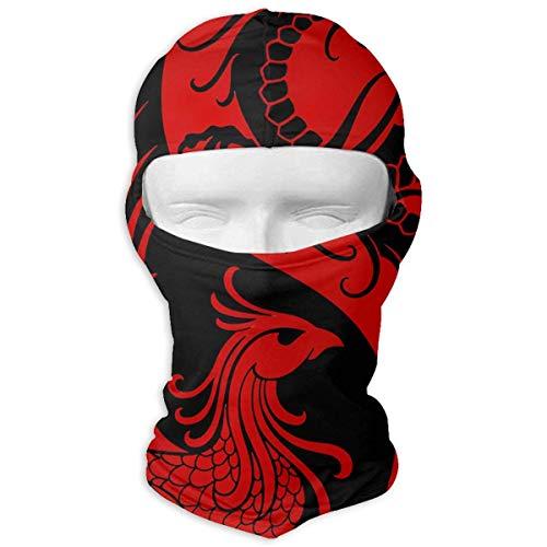 Bikofhd Dragon und Phoenix Taiji Diagramm Winter Ski Vollgesichtsmaske Sonnenschutz Neck Cover Hood für Männer und Frauen Design11