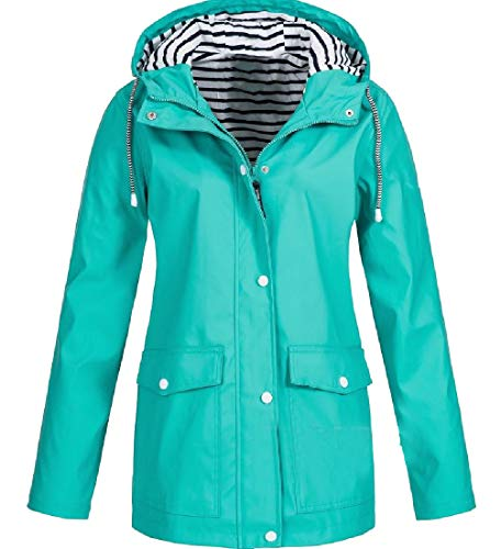 CuteRose Women's Multi Color Regular Premium Classics Outwear Overcoat AS1 XS Tall Classic Zip Fleece