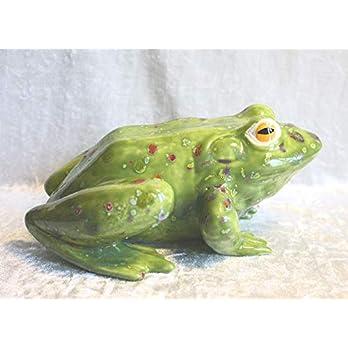Frosch Theo Groß Keramik Handarbeit Gartendeko