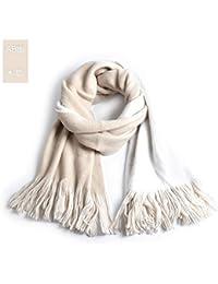 ca32b9951721 Sky-Grow Châle Chaud Écharpe Couleur Sauvage pour Femme, châle Long Pompon  Hiver,