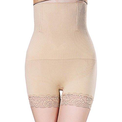 Libella Damen figurenformend Miederpants Miederhose Shapewear Bauch-weg-Effekt mit Spitze am Bein 3609 Schwarz+Hautfarben