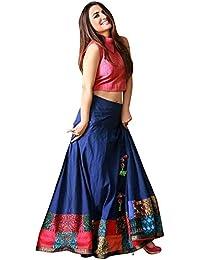 D FASHION GALLERY Women's Tapetta Silk Lehenga Choli (yamini 1, Blue, Free Size)
