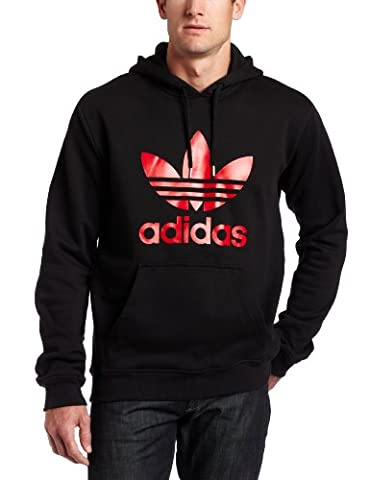Adidas Herren ADI TREFOIL Hoody, Herren, black/light scarlet