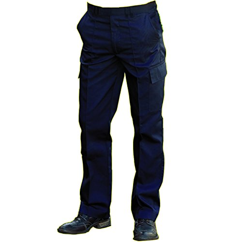 Mens Cargo Work Trousers Black or Navy Short Reg Long Sizes 28 to 52 BY YBS®