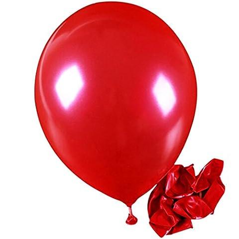 Ularma 100pcs Pearl Latex Ballon Célébration Parti Mariage Anniversaire Enfants Jouets (rouge)