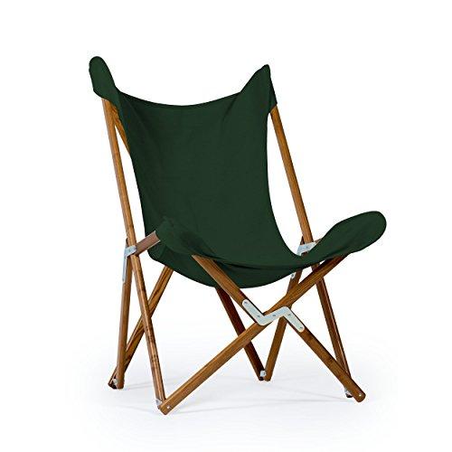 Sedia Tripolina Telami - Made in Italy - Icona del Design - Pieghevole - per Indoor e Outdoor (Verde Scuro)