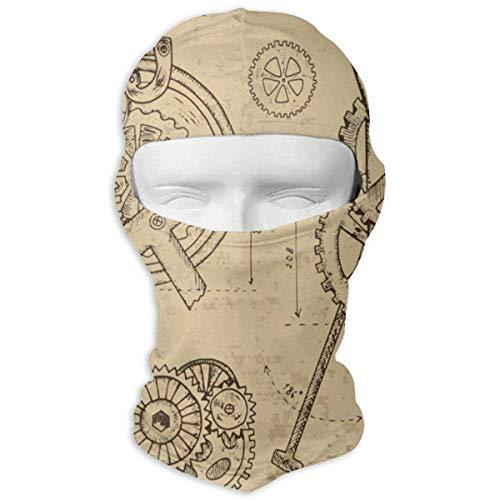 Pizeok Balaclava Retro Watercolor Wooden Guitar Music Full Face Masks Ski Motorcycle Neck Hood Fashion11