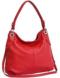 ad871386ba4fd AMBRA Moda Damen echt Ledertasche Handtasche Schultertasche Beutel Shopper  Umhängtasche GL012