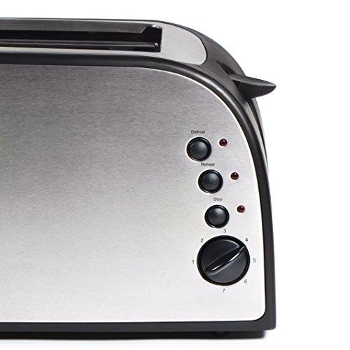 TZS First Austria – gebürsteter Edelstahl 4 Scheiben Toaster 1500W - 5