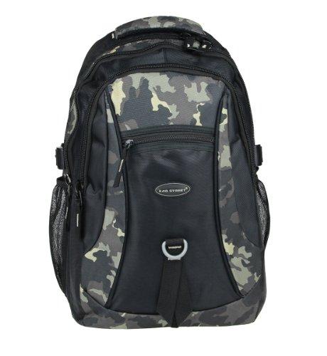 City Rucksack Schule Arbeit & Freizeit Bag Schulrucksack Sportrucksack Backpack Laptoprucksack schwarz (camouflage)