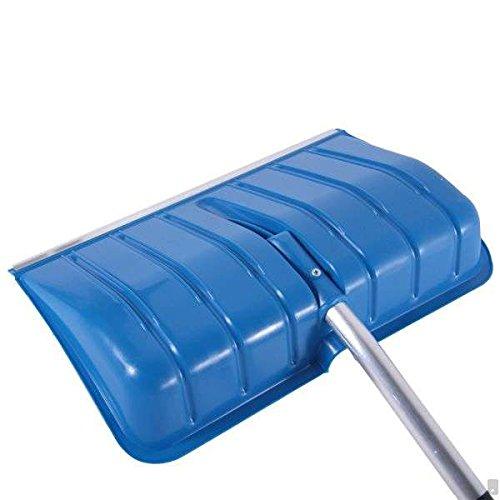 BBT@ / 1x Schneeschaufel Blau + Ergonomisch geformter Aluminium-Stiel + D-Griff + Kantenschutz aus Aluprofil / Leicht + Stabil / Blatt: 55x36cm / Gesamtlänge: 135cm / Schneeschieber Winterdienst Schneeräumer Schneepflug - 3