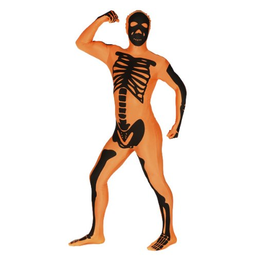 Desconocido Costume Morphsuits scheletro per adulti