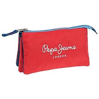 Pepe Jeans Bicolor Boy Neceser de Viaje, 1.32 litros, Color Rojo