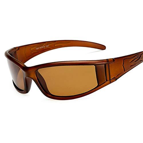 Daawqee Prämie Sonnenbrillen,Brillen,Men Polarized Glasses Car Driver Night Goggles Anti-Glare Polarizer Sunglasses Polarized Driving Sun Glasses brown lens