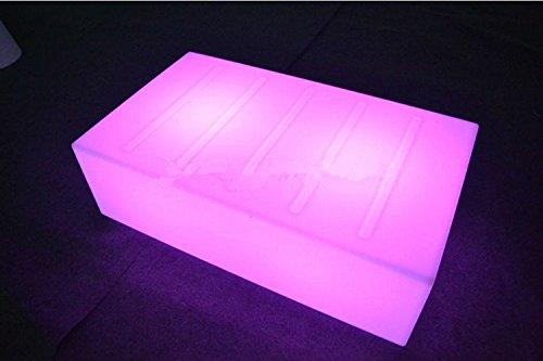 Gowe lumière LED Table télécommande Meuble de salon de luxe Hôtel KTV Bar Tables rectangulaire Table basse carrée