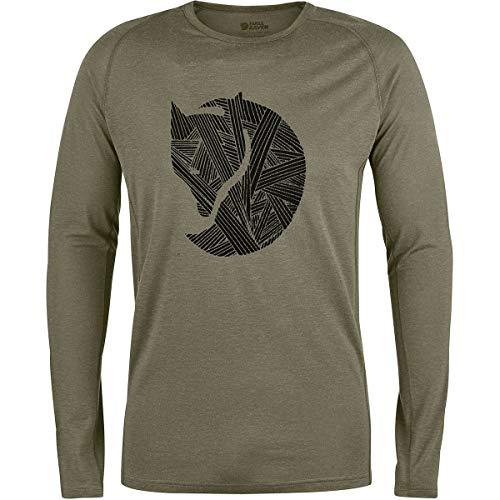 FJÄLLRÄVEN Abisko Trail T-Shirt Printed Long Sleeve Men - Langarmshirt - Laurel Long Sleeve