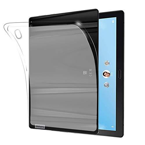 NUPO Lenovo Tab P10 Hülle, Ultra Slim Translucent Soft TPU Silikon Tablet Crystal Durchsichtige Schutzhülle Case für Lenovo Tab P10 10,1 Zoll 2018 TB-X705F/TB-X705L (Matt weiß)