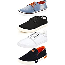 Ethics Perfect Combo Pack of 4 Stylish Sneaker Shoes for Men (9)